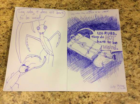 These two pages are inspired by Scott's realization that foot rubs are actually pretty nice.