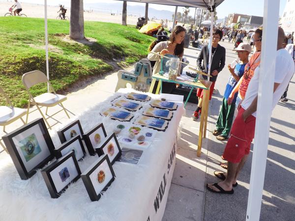 Harmonograph Art Demonstration at Venice Beach