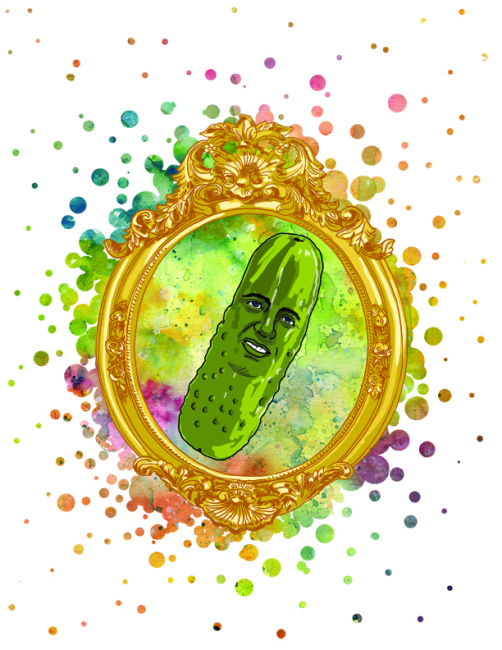 Portrait of My Dad as a Pickle