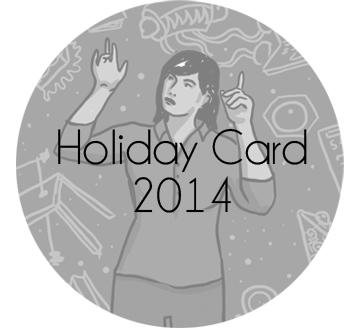 J Sayuri's Holiday Comic Card for 2014