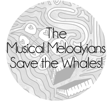Musical Melodyians Save the Whales Button