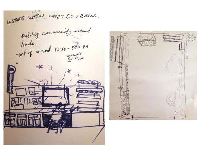 Rough Sketches for Converted Garage Art Studio