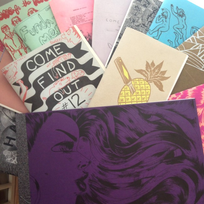 Come Find Out's Zines Display