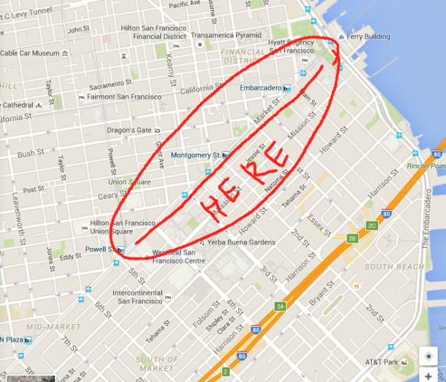 Location of Kiosk Fest in San Francisco, CA July 23 - July 24