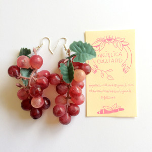 Anjelica Colliard Grape Earrings J. Sayuri