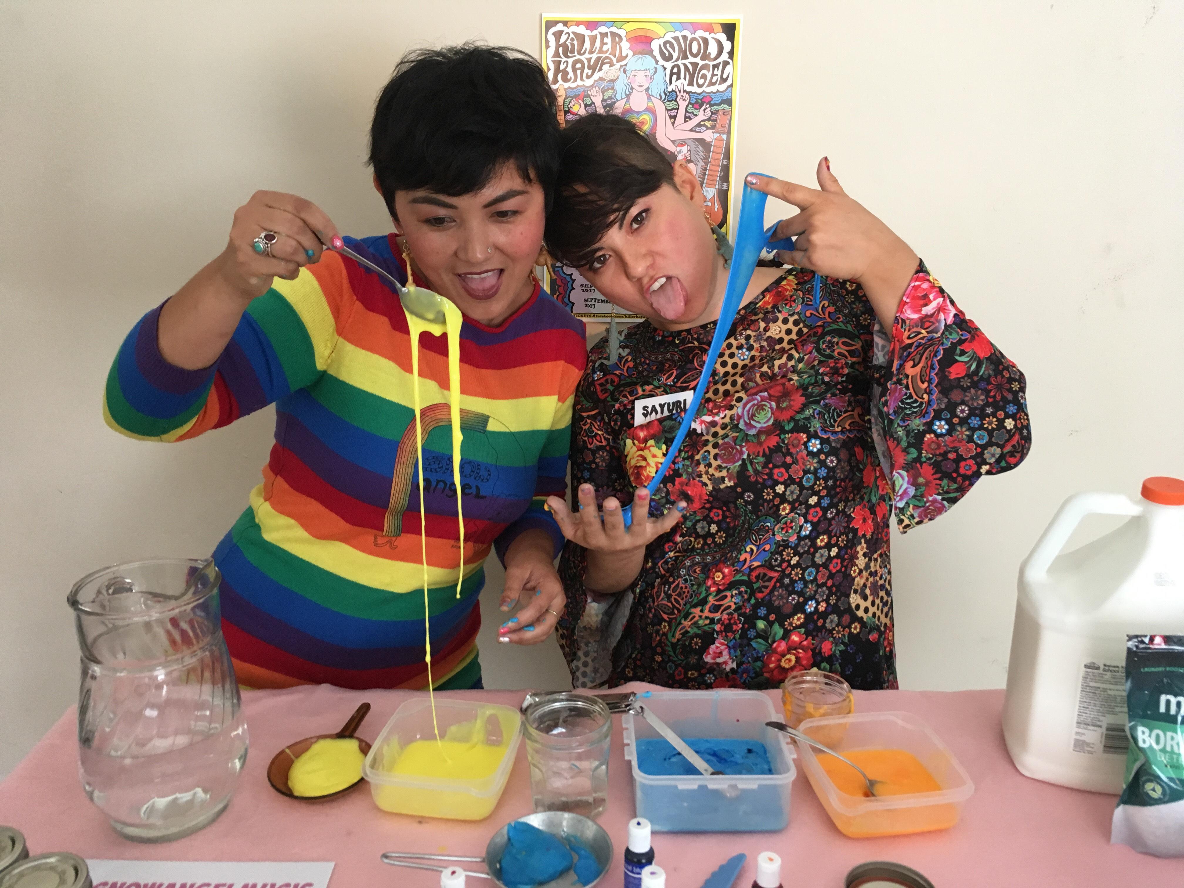 ASMR Slime Crafting with Sayuri and Gabby La La
